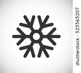 snowflake vector icon | Shutterstock .eps vector #525565207