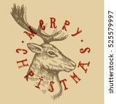 christmas reindeer engraving....