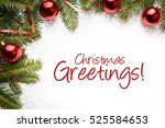 christmas decoration background ... | Shutterstock . vector #525584653