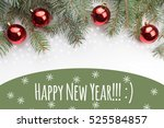 christmas decoration background ... | Shutterstock . vector #525584857