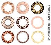 ancient greek round pattern   ... | Shutterstock .eps vector #525592813