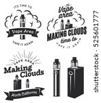 Set Of Vape  E Cigarette Logo ...