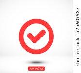 icon of check box icon vector... | Shutterstock .eps vector #525609937