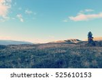 field landscape view of bright... | Shutterstock . vector #525610153