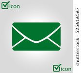 flat  icon of letter.mail icon.