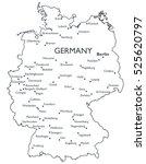 vector map of germany  ... | Shutterstock .eps vector #525620797