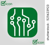 circuit board  icon. technology ... | Shutterstock .eps vector #525623923