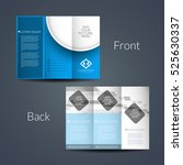 presentation of modern tri fold ...   Shutterstock .eps vector #525630337