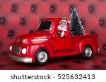a santa claus and truck... | Shutterstock . vector #525632413