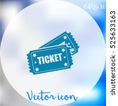 ticket icon | Shutterstock .eps vector #525633163