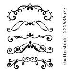 set of borders. flourish... | Shutterstock .eps vector #525636577