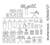 elements for laundry interior ... | Shutterstock .eps vector #525636727