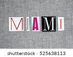 miami word on grey background | Shutterstock . vector #525638113