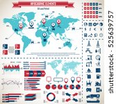 oil industry icon set and... | Shutterstock .eps vector #525639757