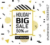 holiday sale modern banner in... | Shutterstock .eps vector #525655417