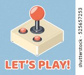 lets play video games concept.... | Shutterstock .eps vector #525657253