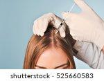 handsome woman receives an... | Shutterstock . vector #525660583