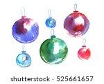 christmas balls. | Shutterstock . vector #525661657