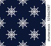marine seamless vector pattern | Shutterstock .eps vector #525662587