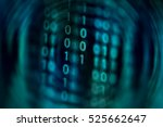 digital binary data on computer ...   Shutterstock . vector #525662647