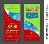 gift voucher template. can be... | Shutterstock .eps vector #525667213