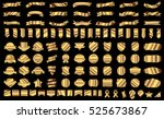 ribbon banner label gold vector ... | Shutterstock .eps vector #525673867