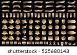 banner ribbon label gold vector ... | Shutterstock .eps vector #525680143