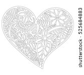 pattern for coloring book.... | Shutterstock .eps vector #525684883