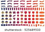 ribbon banner label red vector... | Shutterstock .eps vector #525689533