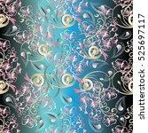 paisley seamless pattern....   Shutterstock .eps vector #525697117