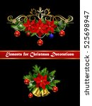 christmas elements for your... | Shutterstock .eps vector #525698947