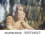 young woman got nose allergy ... | Shutterstock . vector #525714517