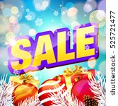 sale. christmas sale card. | Shutterstock .eps vector #525721477