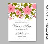 elegance wedding invitation... | Shutterstock .eps vector #525723547