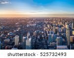 view of toronto city from above ... | Shutterstock . vector #525732493