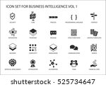business intelligence  bi ... | Shutterstock .eps vector #525734647