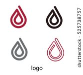 water drop logo. design element.... | Shutterstock .eps vector #525738757