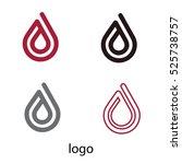 water drop logo. design element.... | Shutterstock .eps vector #525738757