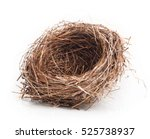 Empty Nest Isolated On White...