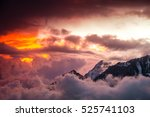 Stock photo view on color clouds from top of mountain 525741103