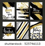 set of merry christmas and... | Shutterstock .eps vector #525746113