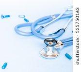 medical  medicine stethoscope... | Shutterstock . vector #525750163
