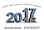 new year 2017   colored 3d... | Shutterstock . vector #525762937