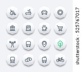 line icons set for map ... | Shutterstock .eps vector #525767017