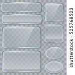 vector transparent glass design ... | Shutterstock .eps vector #525768523
