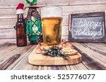 christmas beer  | Shutterstock . vector #525776077