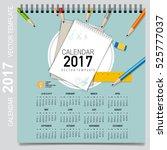 2017 calendar planner  vector... | Shutterstock .eps vector #525777037
