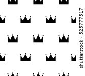 black and white princess crown... | Shutterstock .eps vector #525777517