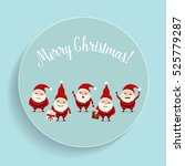 christmas greeting card with... | Shutterstock .eps vector #525779287
