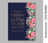 wedding invitation printable...   Shutterstock .eps vector #525786883